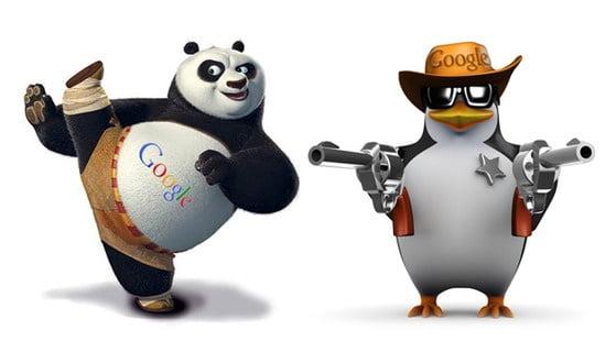 Фільтри пошукових систем - Пінгвін та Панда