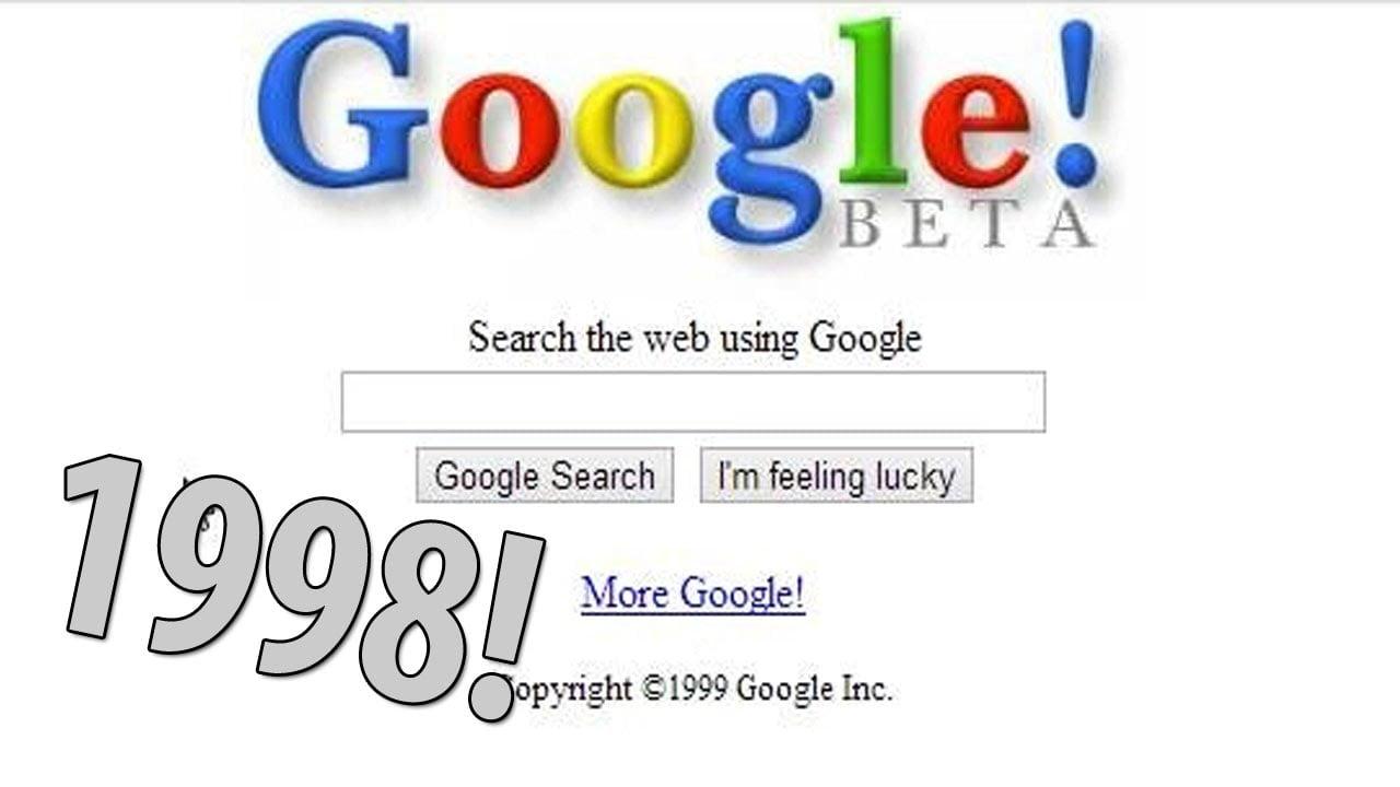 Як виглядал Google раніше
